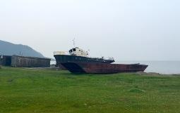 Schiffswrack in Balschyje Koty