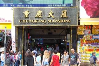 Der Eingang des berühmt berüchtigten Chungking Mansions