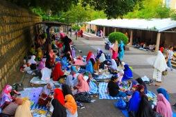 Muslimische Frauen im Kowloon-Park