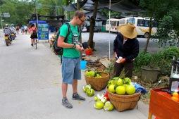Pomelo-Verkäuferin