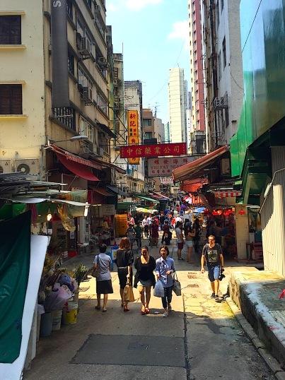 Gasse in Hongkong