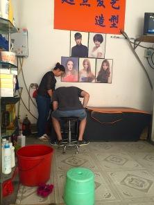 Haareschneiden auf chinesich