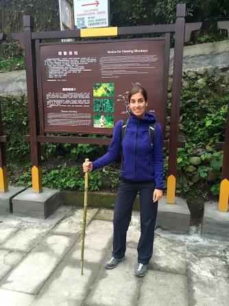 Top ausgerüstet mit Bambus-Wanderstock