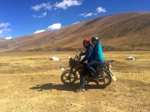 Two on a journey on the Motorbike