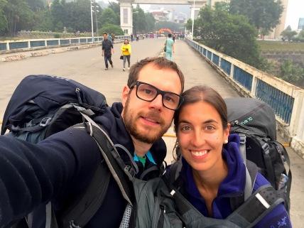 auf der Brücke..im Niemandsland