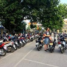 Rollerparkplatz in Hanoi