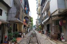 Schienen mitten durchs Wohnviertel