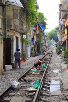 Schiene mitten durchs Wohnviertel