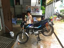 Motorradwäsche