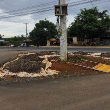 Kaffee wird an den unmöglichsten Orten getrocknet..mitten auf der Kreuzung..