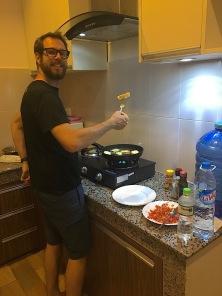 Koch bei der Arbeit..