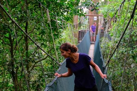 Völlig entspannt auf dem Canopy Walk