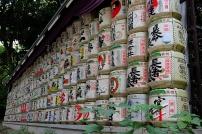 Sake Fässer unweit des Meiji-Shrine