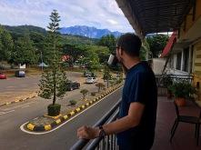 Letzter Blick auf den Mount Kinabalu