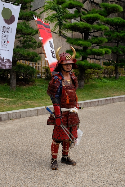 Müllmann beim Osaka Castle