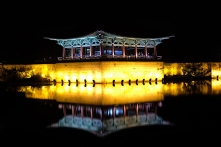 Anapji-Teich mit Pavillon
