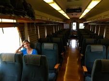 Zugwagen ganz für uns alleine