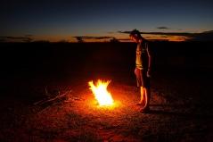 Lagerfeuer im Busch