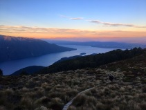 Abendstimmung über dem Lake Te Anau