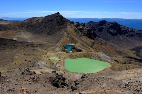 Blick vom höchsten Punkt auf die Seen