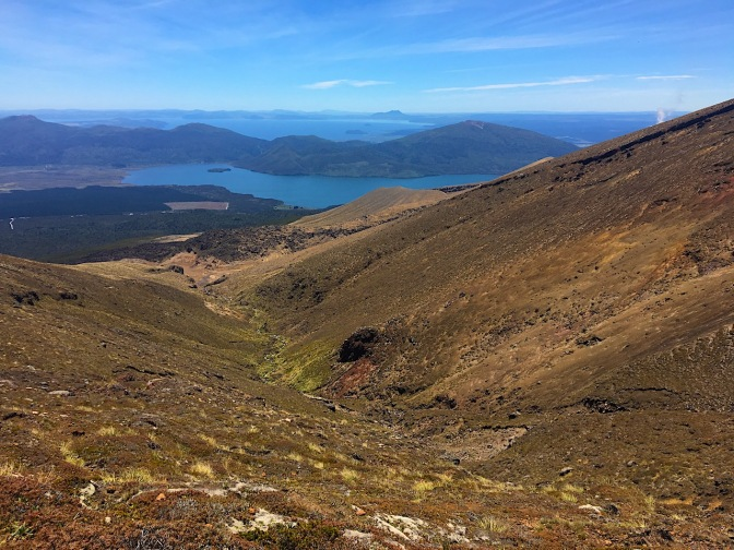 Blick über den Lake Rotoaira und Lake Taupo
