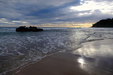Hot Water Beach frühmorgens