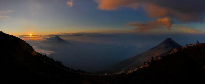 Sonnenaufgang auf dem Vulkan Acatenango