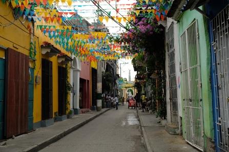 Strasse San Andres welche in Richtung Plaza Trinidad führt