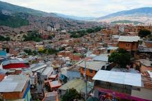 Blick von der Comuna 13 auf die Stadt