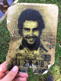 Pablo Escobar bei dessen Verhaftung
