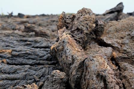 Vulkanlandschaft auf der Insel Isabela