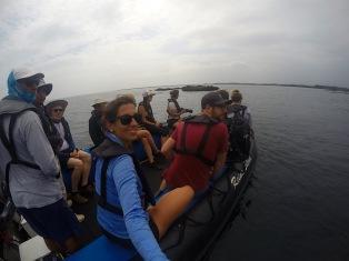 Dhingy-Fahrt durch die Elisabeth Bay
