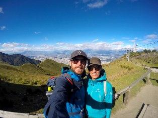 Atemberaubende Aussicht auf die Millionenstadt Quito